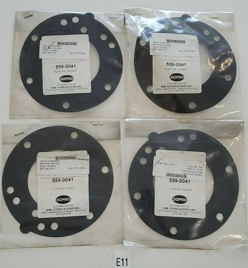 *NEW IN BAG* LOT OF 4 SOPKO DUMORE 559-0041 DUMORE SEAL O RING + WARRANTY!