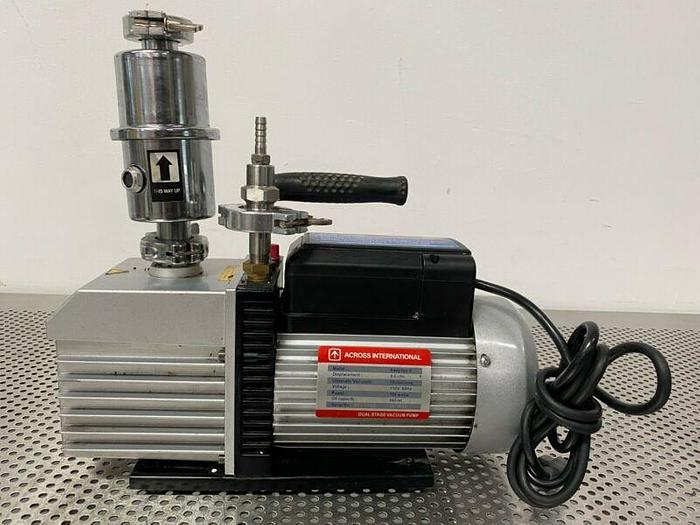 Used Across International EasyVac-9 Dual Stage Vacuum Pump w/ Mist Filter 9 CFM