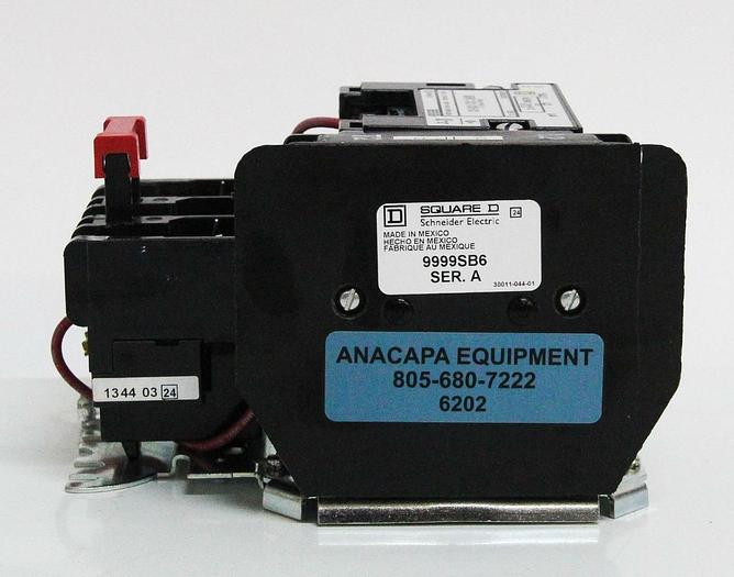 Used Square D 8536SB03S Contactor w 9999SB6 NEMA Size 0 Motor Starter (6202)