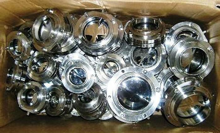 Used Alfa Laval LKB-2 stainless steel 1.4404 (316L) welding valves