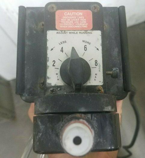 Used Chem-Feed C-1500N Feed Metering Pump 3.1 OZ / Min. 110V