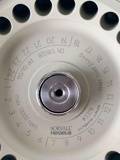 Sorvall Heraeus 3328 24 Place Rotor With #3329 Lid New (7633) W