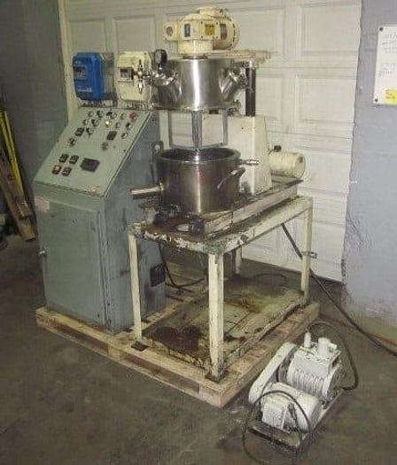 Used 4 GALLON ROSS DOUBLE PLANETARY MIXER WITH VACUUM PUMP & CONTROL PANEL (#9091)