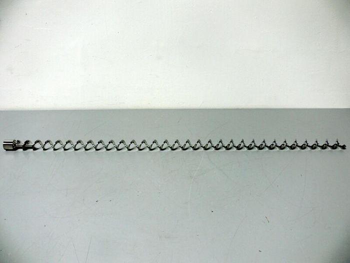 "Used Stainless Steel Reactor Mixer Corkscrew Rod 1.5"" Diameter Impeller,  45"" Long"