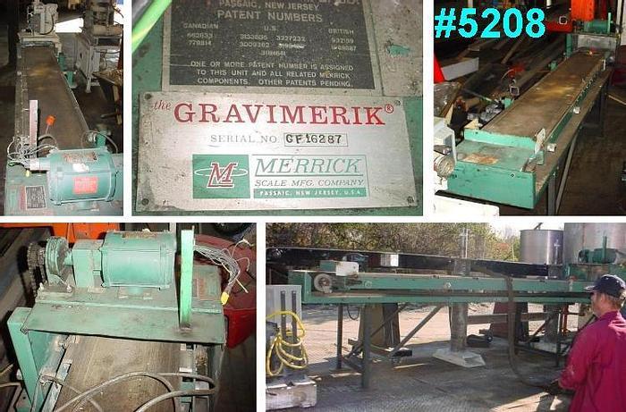 Used 12 in. W x 8 ft. 6 in. L GRAVIMERIK BELT CONVEYOR