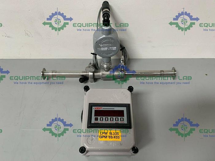 "Used Sponsler SP714 Explosion Proof Amplifier w/ 21"" Turbine Flow Meter"