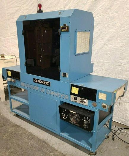 Used Lesco P155 Multi Cure UV Resin Curing Conveyor Oven... high production machine!