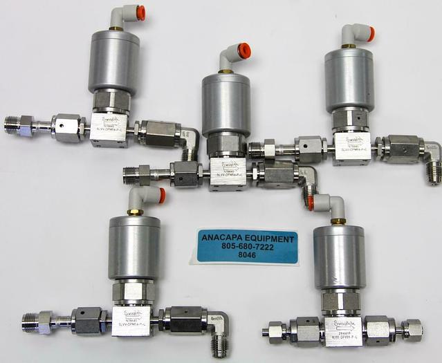 Used Swagelok N78840 6LVV-DPMR4-P-C, 316L UHP Diaphragm Sealed Valve Lot of 5 (8046)W