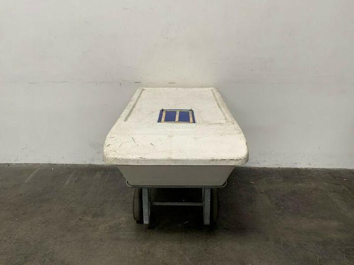 Used Remco 6901 White Dump Tub w/ Rolling Cart