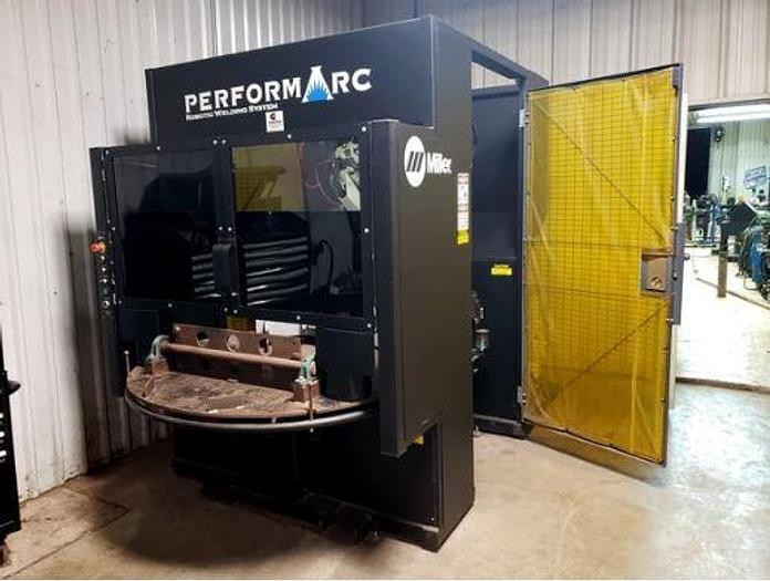 2013 MILLER PERFORMARC PA250M ROBOTIC WELDING CELL, PANASONIC TA-1000 6-AXIS ARTICULATED ROBOT ARM, 6 KG PAYLOAD MILLER PERFORMARC PA250M ROBOTIC WELDING CELL
