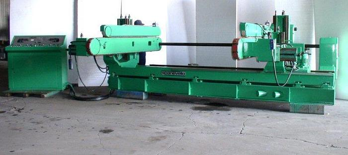 """Used 136"""" SPANEVELLO Double End Tenoner; 6 Heads"""