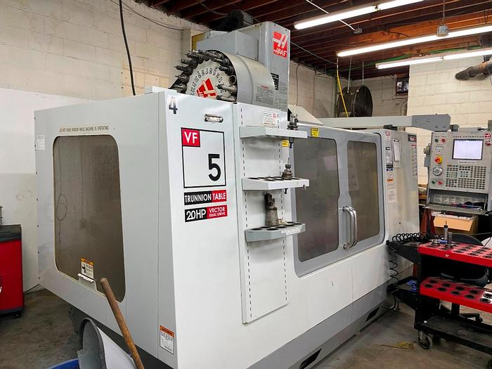 """Used 50""""X, 26""""Y, 25""""Z, HAAS, VF-5D/40TR, 2006, CNC 5-AXIS VERTICAL MACHINING CENTER"""