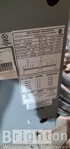 Used Rex SC15J-L 15KVA transformer