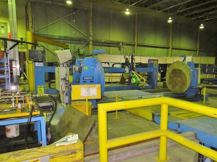 Used ROLL WRAPPER VOITH TWISTER SPIRAL WRAPPER MFG 2000 65 ROLLS HR