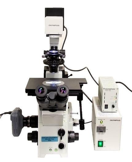 Used Olympus IX71 Inverted Microscope Halogen, Mercury & Phase Contrast USED (9020)R