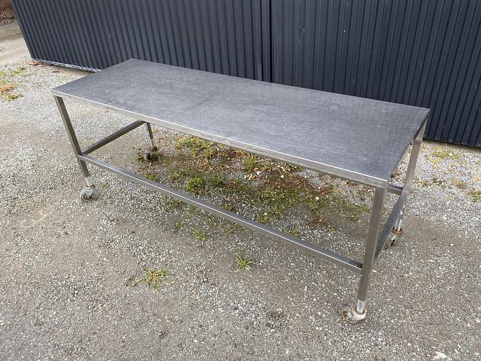 Begagnad Arbetsbord rostfritt 213x70cm