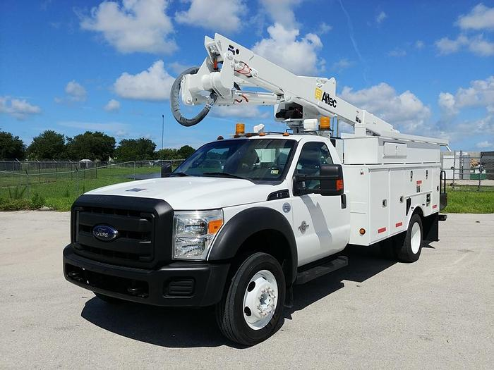 Altec AT40G 45ft Articulating Telescopic Bucket Boom on 2012 Ford F550 4x4 Extended Cab - C14976