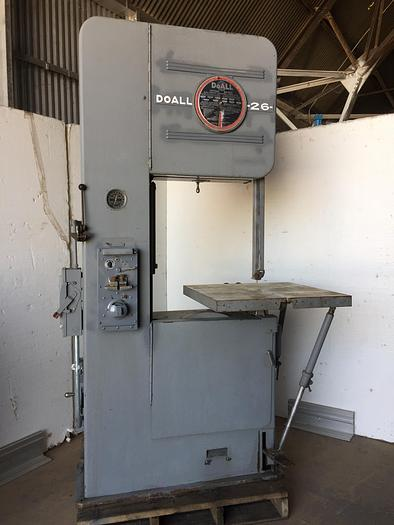 "Used 26"" DoAll Extended Height Vert. Band Saw"