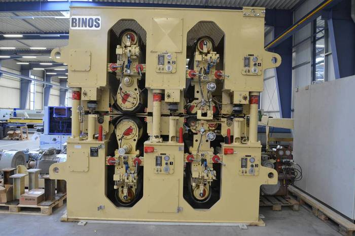 2007 BINOS WBS 4 26-2F -1300 Double-sided Calibration Sanding Machine