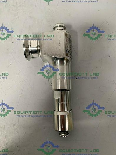 "Used Leser 4814.7694 Stainless Steel Flow Valve w/ 1"" & 3/4"" Sanitary Fittings"