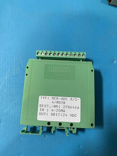 Used Phoenix Contact Analog/Digital Convertor MCR-ADC 8/I-4/MSTB