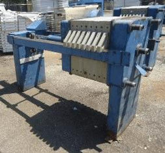 Used 2.25 CU. FT. JWI FILTER PRESS  630 MM – C.G.R. – AUTOMATIC CLOSURE
