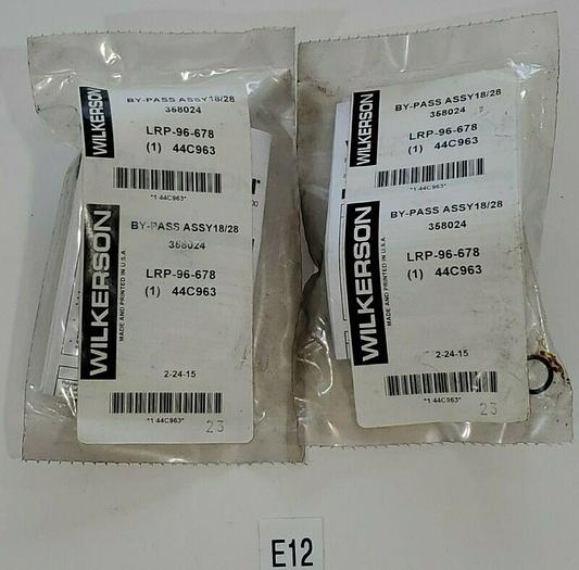 *NEW IN BAG* LOT OF 2 WILKERSON LRP-96-678 BY-PASS ASSY 18/28 358024 + WARRANTY!