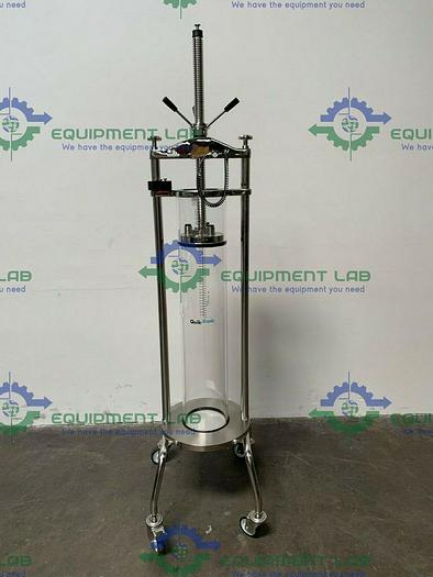 Used Millipore QuikScale 200 x 1100 Chromatography Column 33 Liter w/ Hand Pump