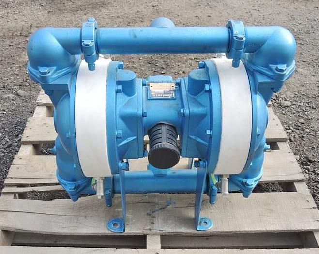 """USED DIAPHRAGM PUMP, 2"""" X 1.5"""" INLET & OUTLET, 316 STAINLESS STEEL, CONTAINMENT DUTY"""