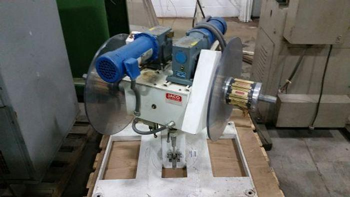 "Used 400# x 8"" JACO MOTORIZED DOUBLE END UNCOILER"