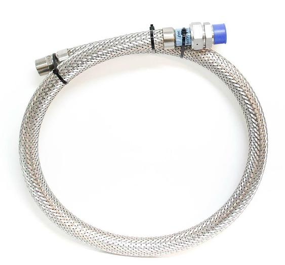 "Flexible Stainless Steel 5' Cryogenic Braided Hose 316 Tri Swagelok 1"" NEW(5447)"