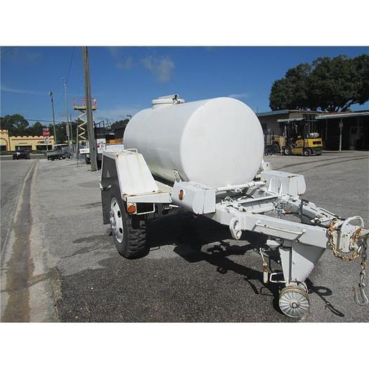 400 Gallon stainless steel tank and military trailer