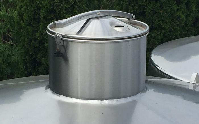 USED 2640 GALLON JACKETED TANK, STAINLESS STEEL, SANITARY