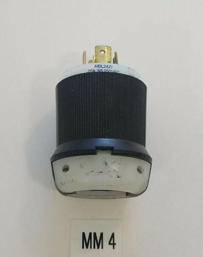 Used *PREOWNED* Hubbell HBL2421 Male Connector 20A 3Ø 250VAC + FAST SHIPPING!