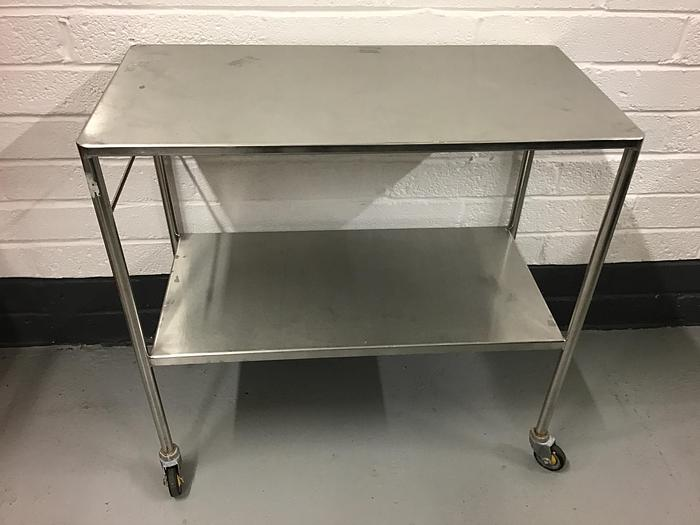 Used Trolley stainless steel 2 shelves 900x450mm