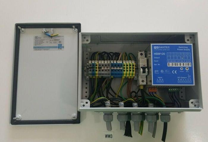 Used *PREOWNED* RITTAL TERMINAL BOX KL1531 + CAMTEC HSW120 POWER SUPPLY & SIEMENS