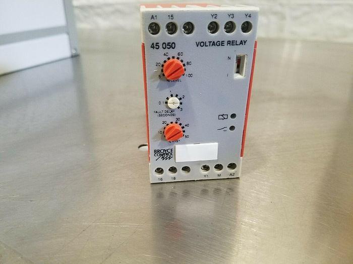 Used Broyce Control Voltage Relay Model 321-6781 Type: 45050 24 vac 110 vac 230 vac