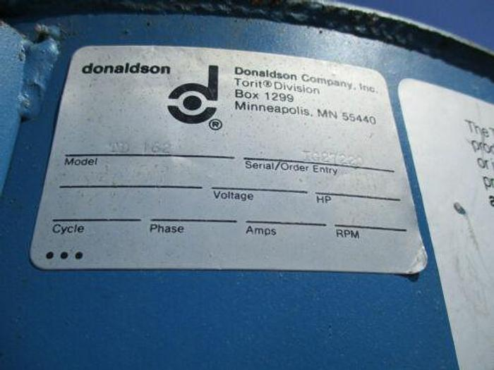 TORIT DONALDSON MODEL 162 CARTRIDGE SS DUST COLLECTOR W MOTORIZED HOPPER FEEDER