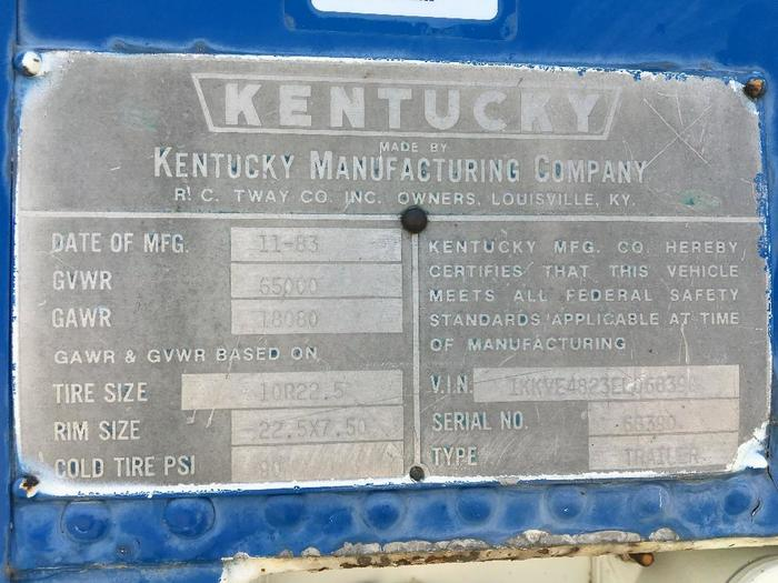 1984 KENTUCKY VAN