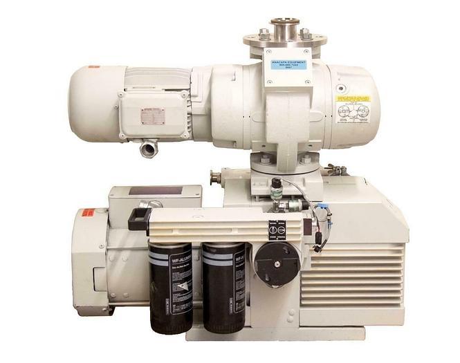 Used Leybold Trivac D40BCS Vacuum Pump + Leybold Ruvac WSU251 Blower Booster (9067)R