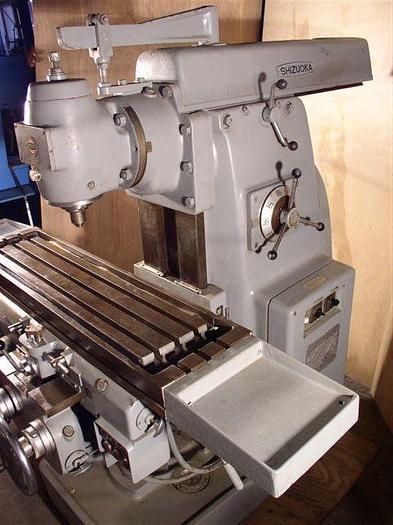 "11"" x 43"" Shizouka Plain Horizontal Milling Machine w/ Vertical Head; Absolutely Mint!"