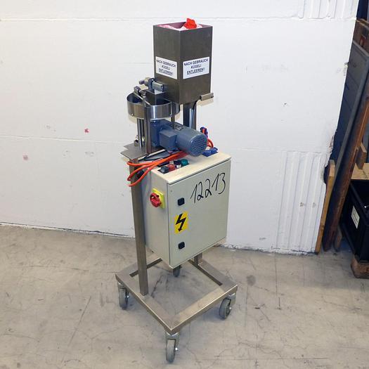 Gebraucht gebr. Zählmaschine in Edelstahlausführung für kleine Kügelchen mit ca. 6 mm Durchmesser.