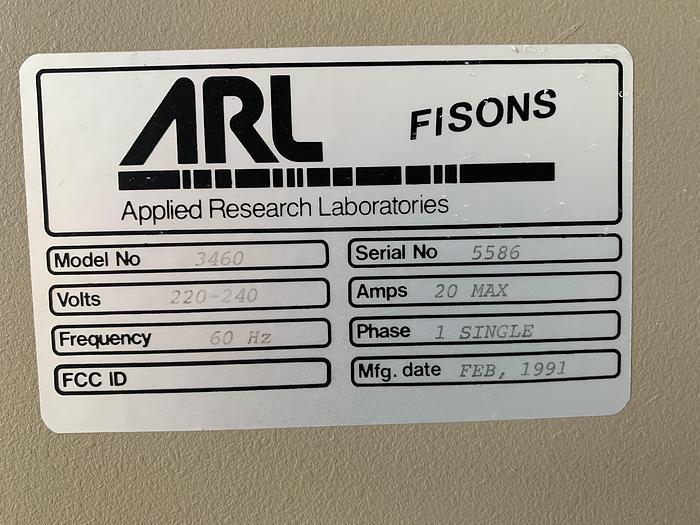 Fisons ARL Metal Analyzer  3460