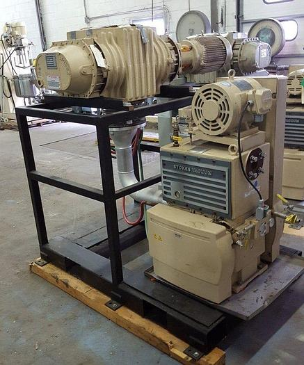 Used STOKES VACUUM PUMP WITH EDWARDS BLOWER PACKAGE (#8912)