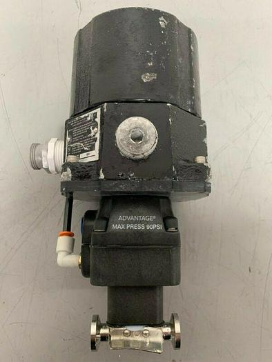 """Used ITT Pure-Flo A303 Stainless Steel 2-Way Diaphragm Valve w/ 1"""" Sanitary Fittings"""