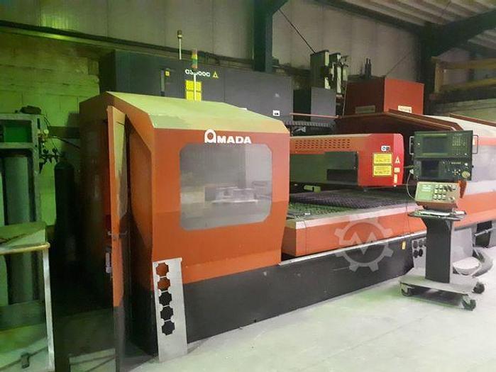 Gebraucht 1997 Amada LC3015D CNC Laserschneidanlage mit 4 gesteuerten Achsen