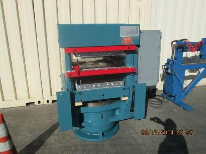 "Used EEMCO 24"" X 32"" SLAB SIDE RUBBER PRESS 314 TONS 12"" STROKE HYDRAULIC UNIT PLC"