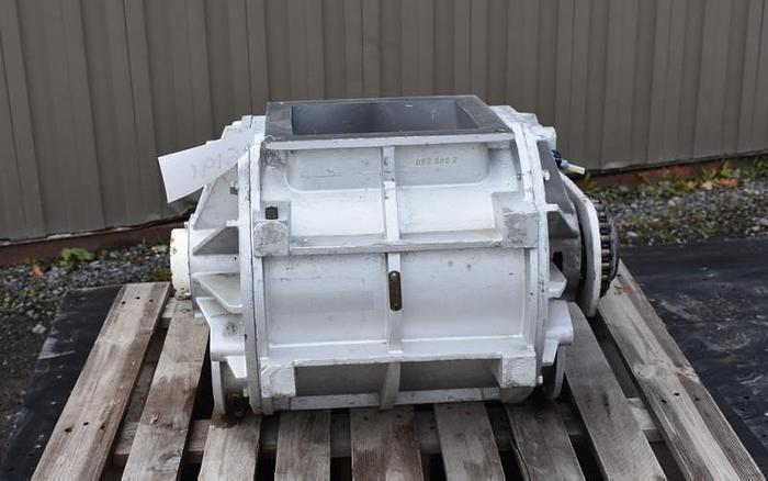 USED ROTARY AIR LOCK VALVE, SIZE: 10'' X 4'' BLOW-THROUGH, CAST ALUMINUM, SANITARY, REIMELT