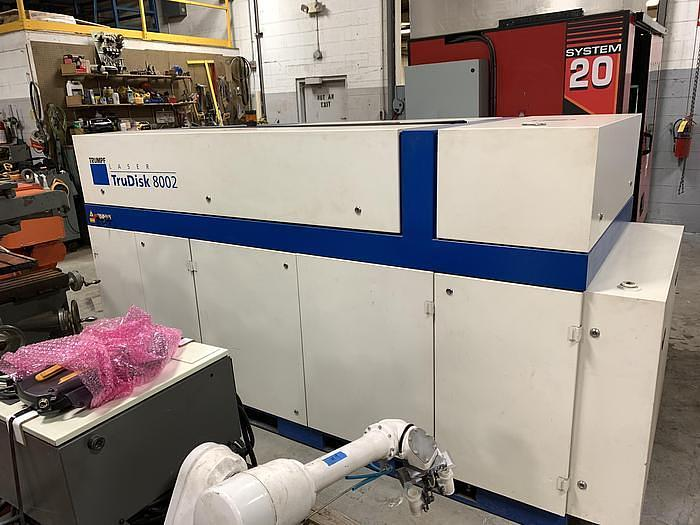 LINCOLN ELECTRIC  IRB 2400 ROBOTIC LASER WELDING CELL WITH DUAL ABB IRBP 2000L DUAL TRUNNIONS