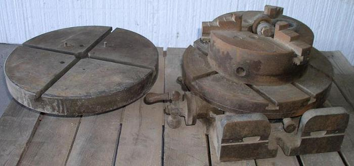 """Used 15"""" Rotary Table w/ 3 Jaw Universal Chuck"""